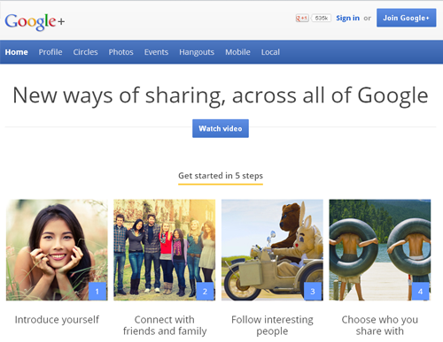 Google+ - New Ways of Sharing Across All of Google
