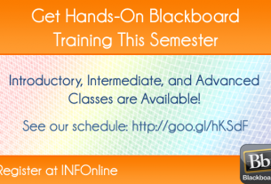 Spring 2013 Blackboard Training Courses Available
