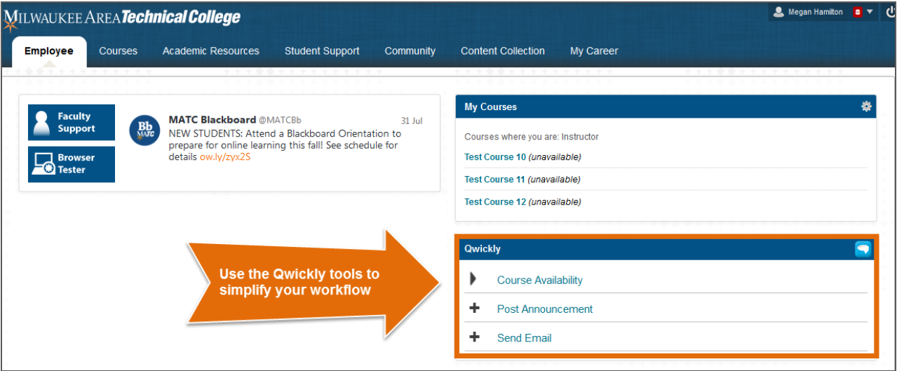 Employee screen- Qwickly module
