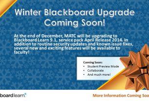 Blackboard Upgrade Coming