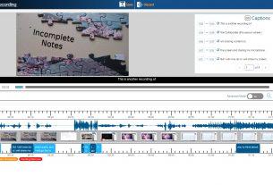 Example YuJa Video Editor Screen